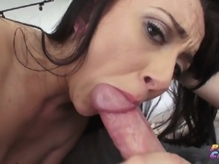 brunette big dick blowjob