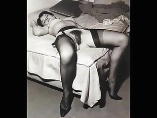 hairy vintage stockings