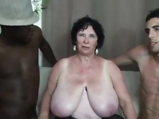bbw old & double penetration