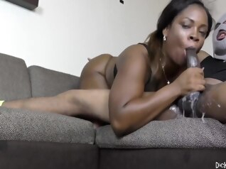 big cock brunette deepthroat