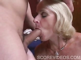 blonde blowjob old & young