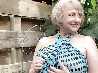 blonde mature public nudity